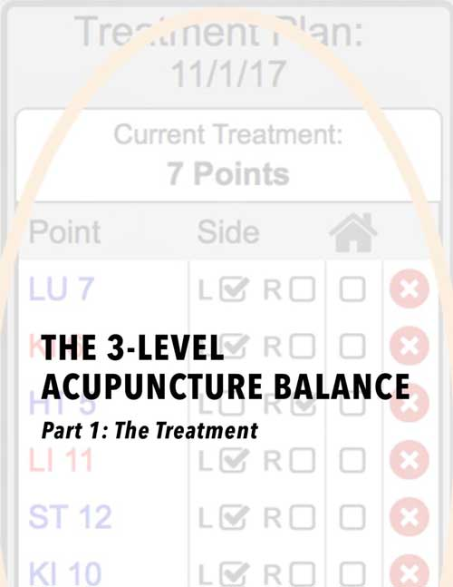 The 3-Level Acupuncture Balance